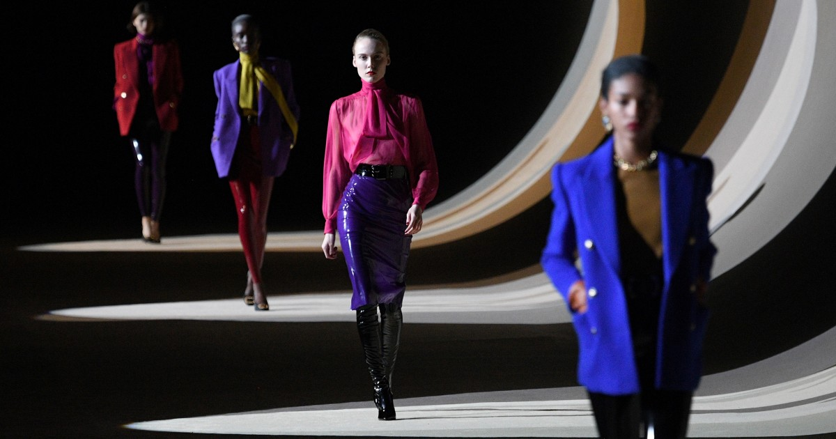 Review: Saint Laurent's Anthony Vaccarello put color in the spotlight