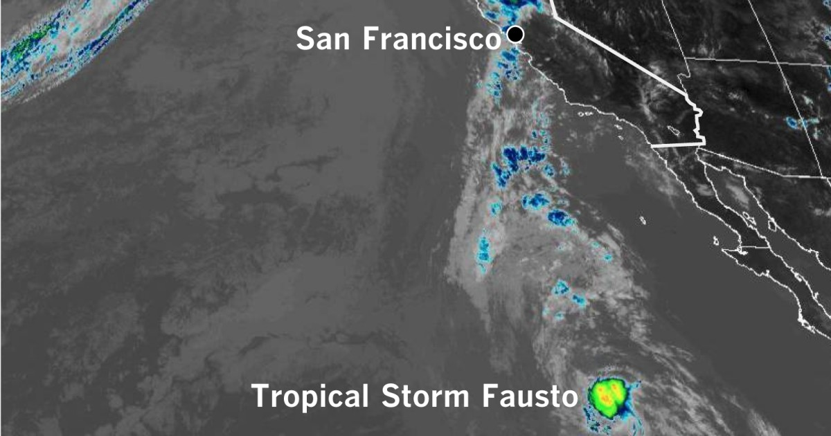 Tropical Storm Fausto fuels Northern California storms