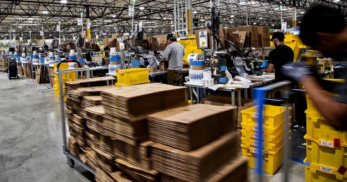 Newsom signs bill taking aim at labor practices in Amazon warehouses