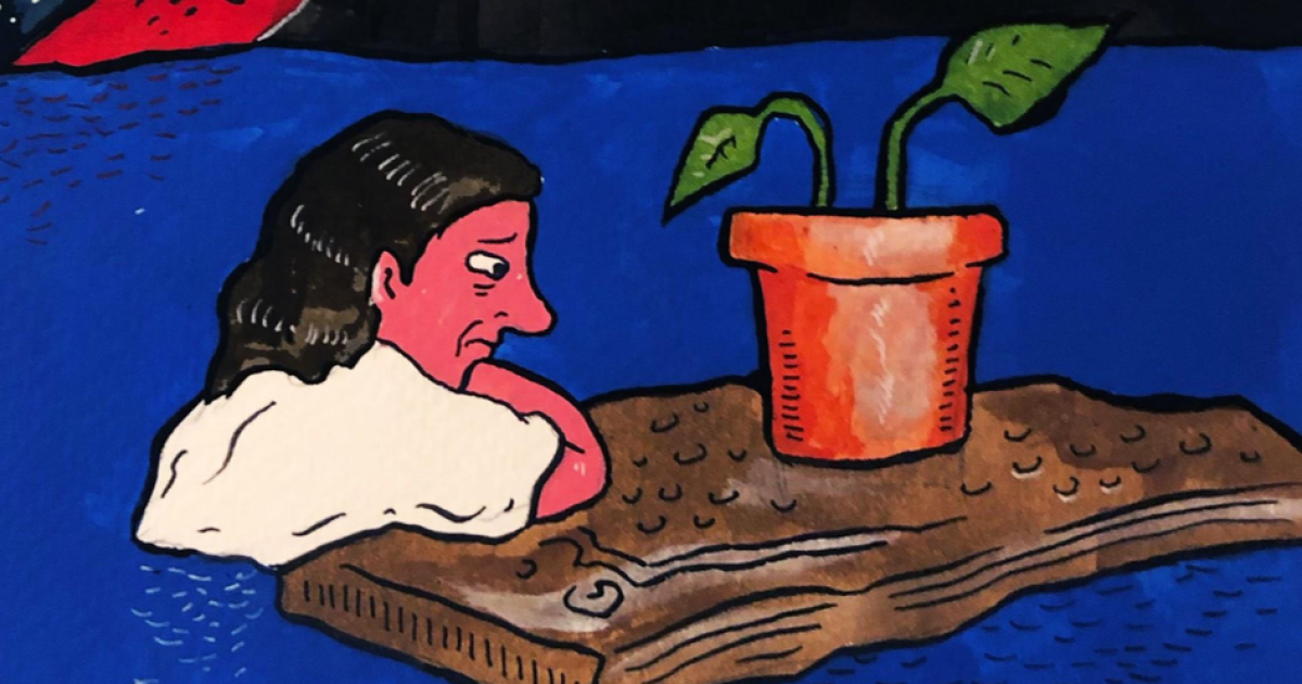 Comic: If I can't care for a houseplant, how can I care for myself?